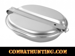 US Military Style Mess Kit Stainless Steel Self Nesting