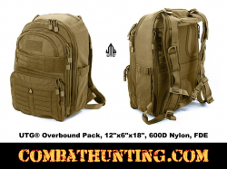 "UTG® Overbound Pack 12""x6""x18"" 600D Nylon FDE"