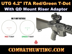"UTG 4.2"" ITA Red/Green T-Dot With QD Mount Riser Adaptor"