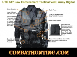 UTG 547 Tactical Vest Military Law Enforcement Army Digital Camo