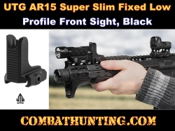 UTG AR15 Super Slim Fixed Low Profile Front Sight Black