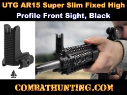UTG AR15 Super Slim Fixed High Profile Front Sight Black