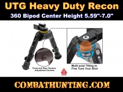 UTG Heavy Duty Recon 360 Bipod Center Height 5.59-7.0