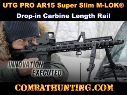 "UTG PRO AR15 Super Slim M-LOK® 15"" Drop In Carbine Length Rail"