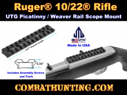 Ruger® 10/22® Picatinny / Weaver Rail Mount UTG PRO Made in USA