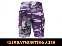 Ultra Violet Camouflage BDU Shorts