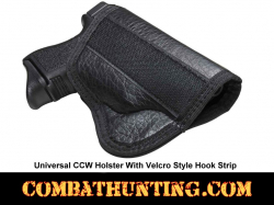 Universal CCW Holster With Velcro Style Hook Strip
