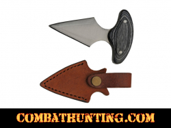 Stainless Steel Fixed Blade Knife With Leather Sheath