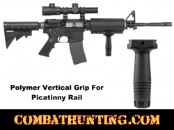 Polymer Vertical Grip For Picatinny Rail