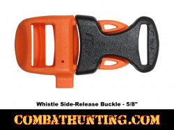 Emegency Survival Whistle Buckle Orange Black 5/8