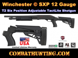 Winchester SXP 12 Gauge Stock T2 Six Position Adjustable TactLite Shotgun Stock w/ Scorpion Recoil S