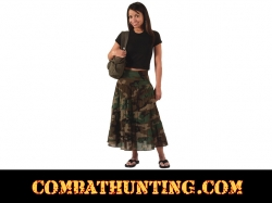 Womens Gauze Woodland Camo Skirt