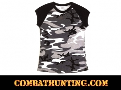 Womens City Camo Raglan T-Shirt