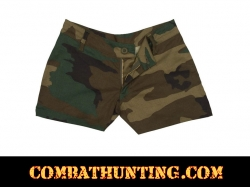 Womens Woodland Camo Shorts