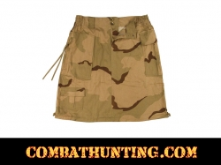 Womens Tri-Color Desert Camo Knee Length Skirt
