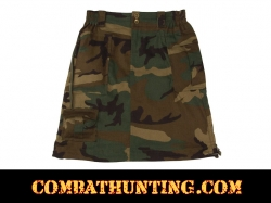 Womens Women Woodland Camo Knee Length Skirt