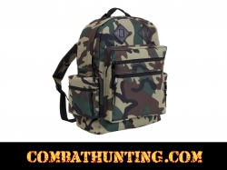 Deluxe Day Pack / Backpack Woodland Camo