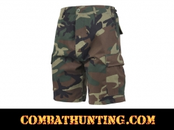Woodland Camo BDU Military Shorts