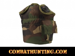 G.I. Style Woodland Camouflage 1 Qt Canteen Cover