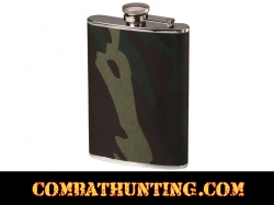 8oz Stainless Steel Flask Camouflage Wrap