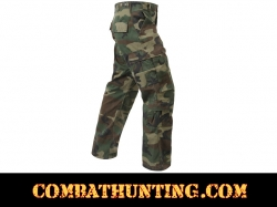 Woodland Camo Vintage Paratrooper Fatigue Pants