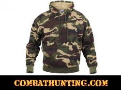Woodland Camouflage Pullover Hooded Sweatshirt