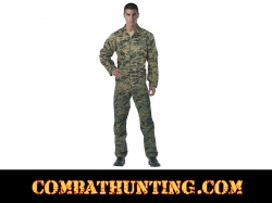 Woodland Digital Camo Air Force Style Flightsuit
