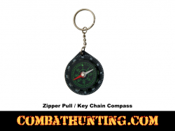 Zipper Pull-Key Chain Compass