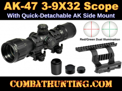 AK-47 Scope KIT 3-9X32 With AK QD Side Mount