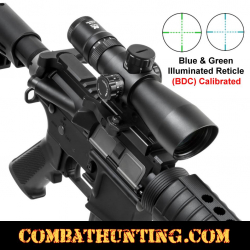 3-9X42 Tactical Rifle Scope Mil-Dot Illuminated Reticle BDC