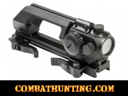 AR-15 Carry Handle Green Dot Sight Combo With Laser