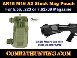 AR15 A2 Butt Stock Mag Pouch OD Green