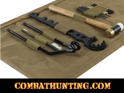 AR15/M4 Gunsmithing Tool Kit With TAN Cleaning Mat