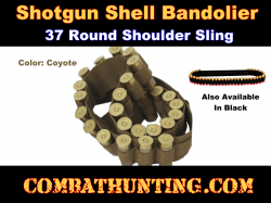 Tactical Shotgun Bandoleer 12ga 20ga Coyote