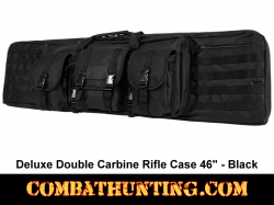 Double Tactical Rifle Case 46 Inches Black
