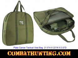 Plate Carrier Tactical Vest Bag Military Green