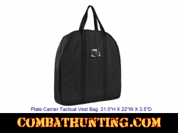 Plate Carrier Tactical Vest Bag Black