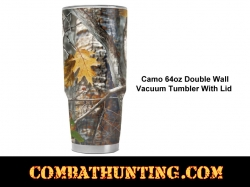 Camo Tumbler 64oz With Lid