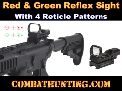Reflex Sight Red And Green Illumination 4 Reticle
