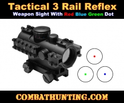 3 Rail Tactical CQB Reflex Sight Illuminated