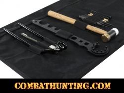 AR15/M4 Gunsmithing Tool Kit With Black Cleaning Mat
