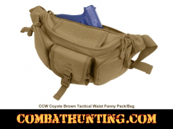 Concealed Carry Fanny Pack Waist Pack Coyote Brown