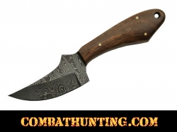 Damascus Steel Hunting Knife With Walnut Handle