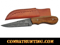 Damascus Steel Spear Point Hunting knife