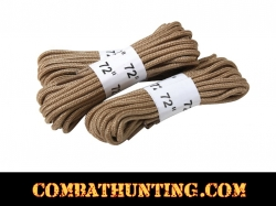 "Desert Tan 72"" Boot Laces - 3 Pack"