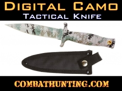 Digital Camo Tactical Hunting Knife