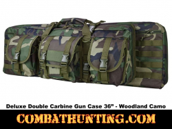 Double Carbine Case 36 Inches Woodland Camo