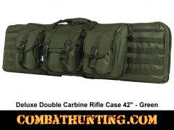 Double Carbine Rifle Case 42 Inches Military Green