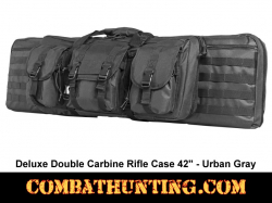 Double Carbine Rifle Case 42 Inches Urban Gray