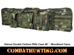 Double Tactical Rifle Case 46 Inches Woodland Camo